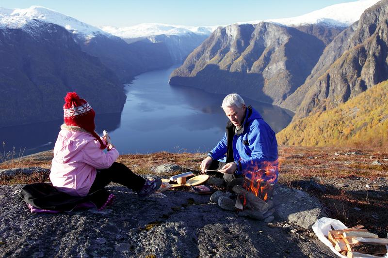 Moje volba: Podzimní pohoda nad fjordem Aurland