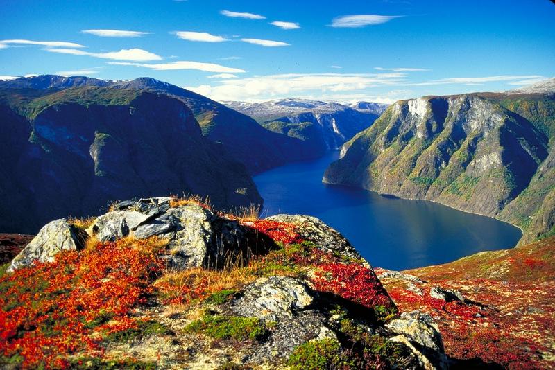 Moje volba: Podzimní barvy Aurlandsfjordu