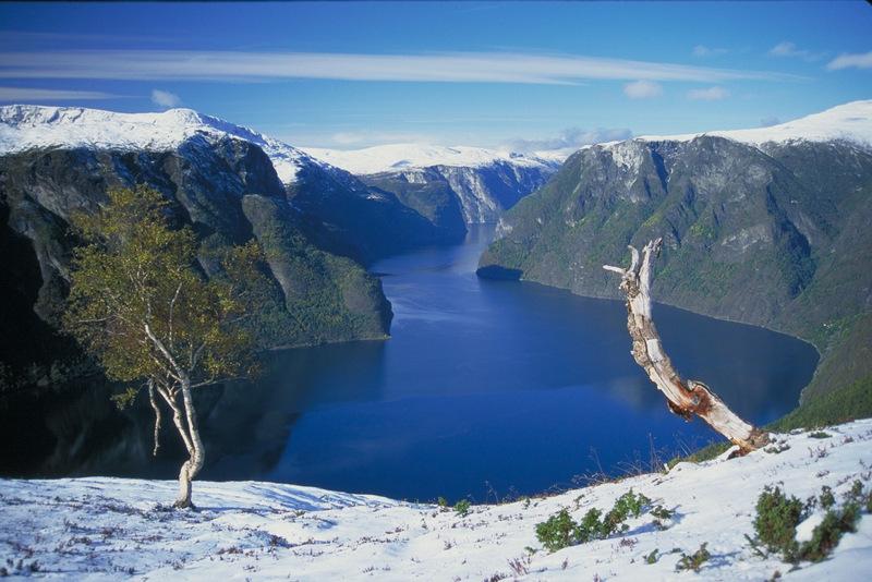 Moje volba: Fjord Aurlandsfjorden v zimním spánku