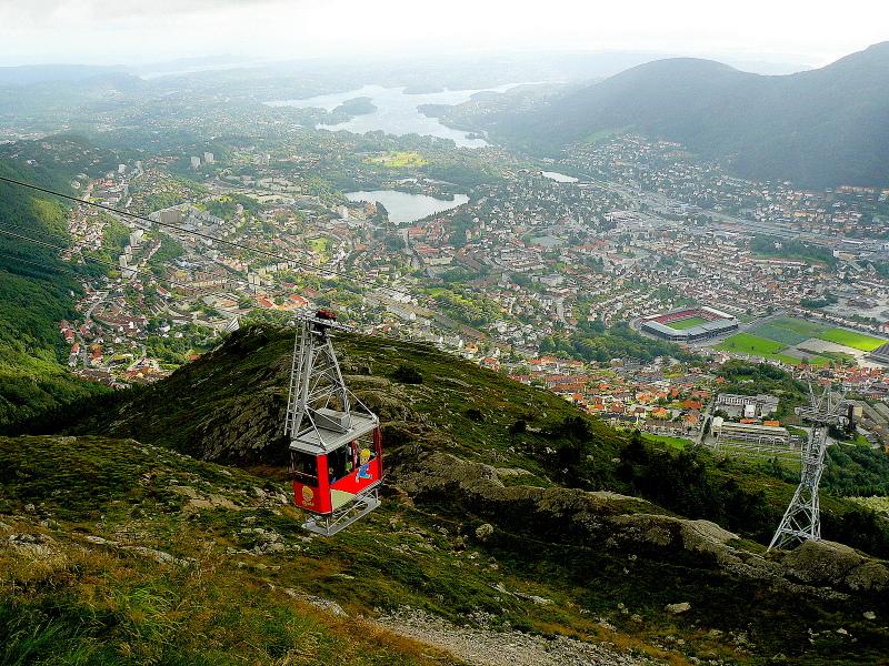 Moje volba: Lanovka na Vrchol Ulriken nad Bergenem
