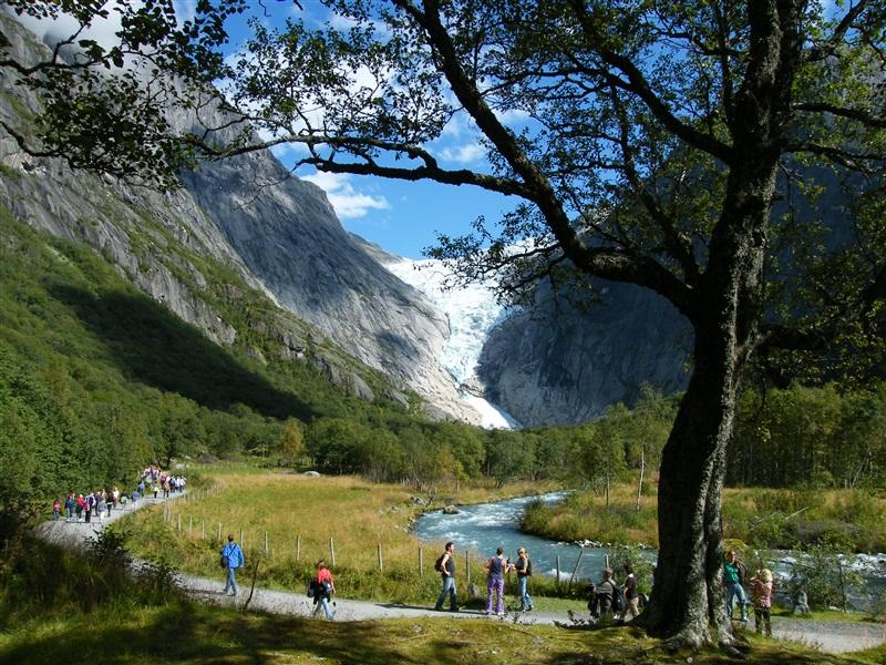 Moje volba: Ledovcový splaz Briksdalsbreen v Nordfjordu