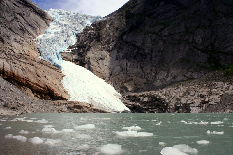 Moje volba: Splaz ledovce Briksdalsbreen