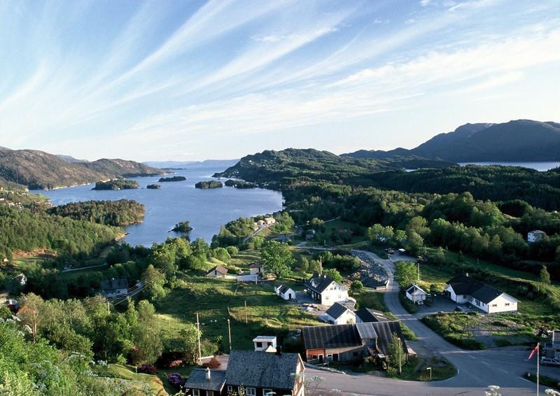 Moje volba: Eikelandsosen - fjord u Bergenu