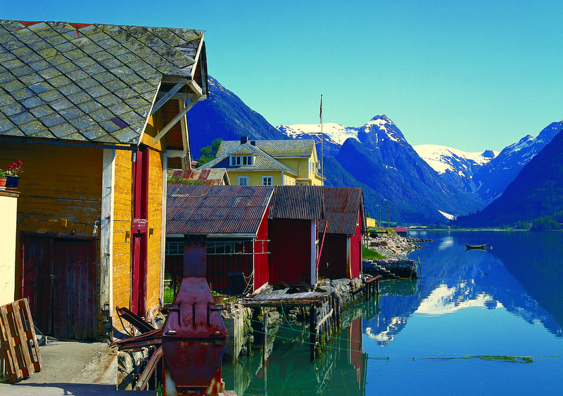 Moje volba: Staré rybářské domky ve Fjærlandu