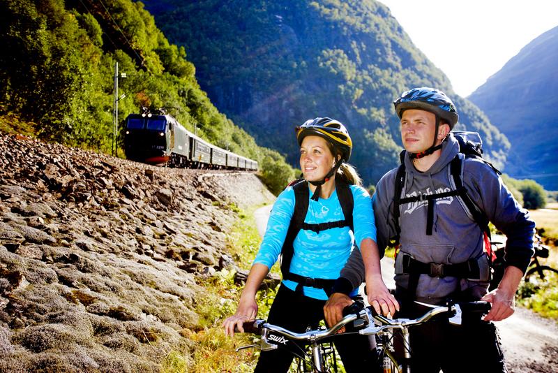 Moje volba: Výlet na cyklostezce nedaleko železnice Flåmsbanen