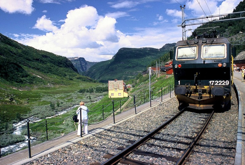 Moje volba: Flåmsbana - konečná stanice Myrdal  867 m n.m.