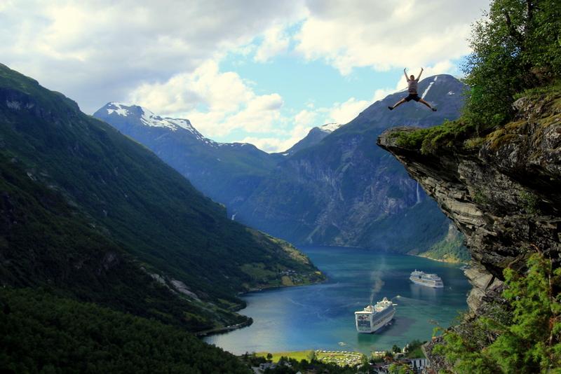 Moje volba: Vyhlídka Flydalsjuvet nad fjordem Geiranger