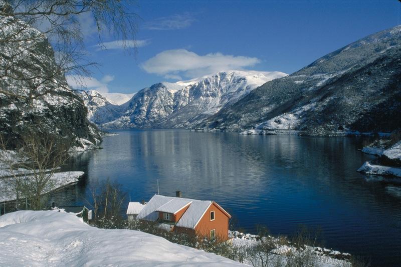 Moje volba: Fjord Nærøyfjorden v zimním šatu