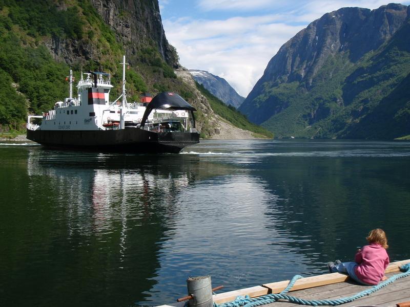 Moje volba: Trajektová linka v přístavu Gudvangen