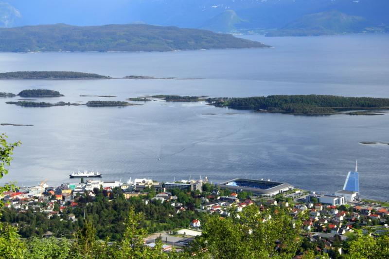 Moje volba: Město Molde z vyhlídky Varden