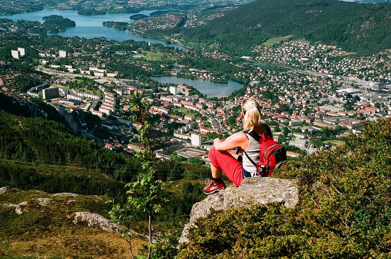 Moje volba: Výhled na Bergen z hory Ulriken